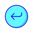 arrow, arrows, back, circle, left, previous, round icon