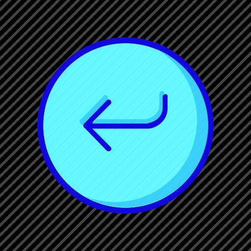 arrow, arrows, back, circle, left, previous, round icon