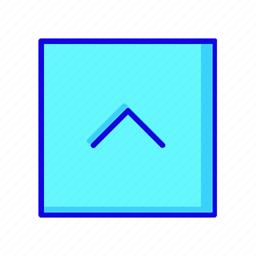 arrow, square icon