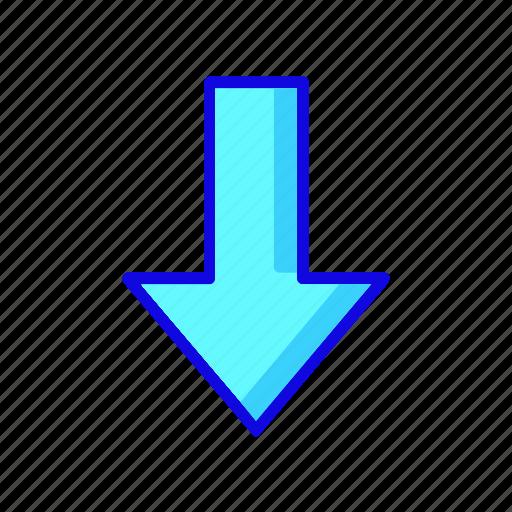 arrow, arrows, direction, down, download, move, navigation icon