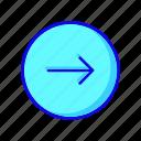 arrow, arrows, circle, move, next, right, round