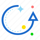 arrow, circle, reset, up icon