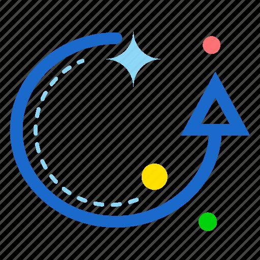arrow, circle, reset, up icon