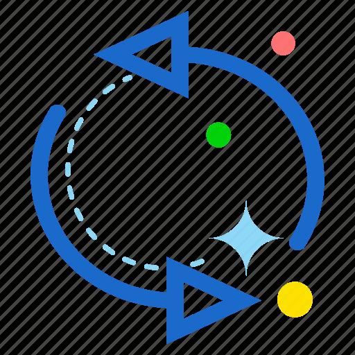 arrow, circle, rotate icon