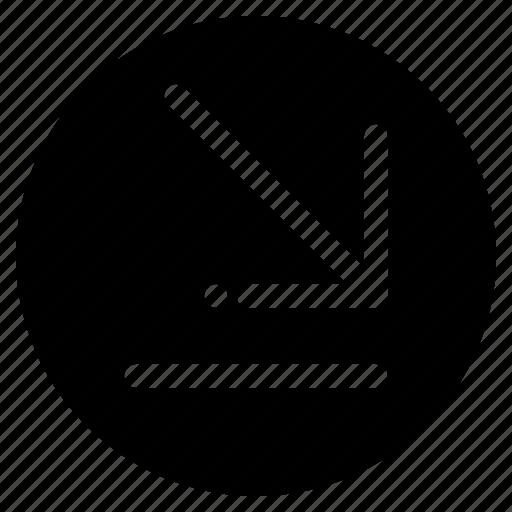 arrow, corner, down, right icon
