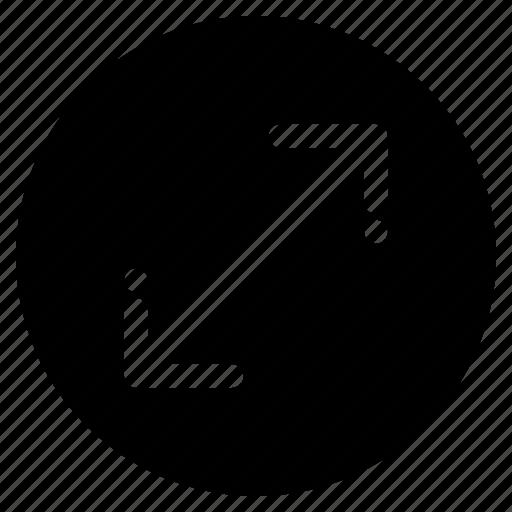 arrow, navigation, scale, zoom icon