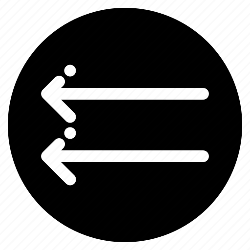 arrow, back, double arrows, left icon