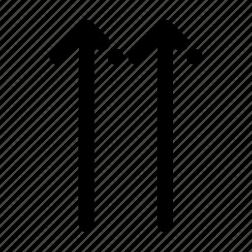 arrow, double arrow, up, upload icon