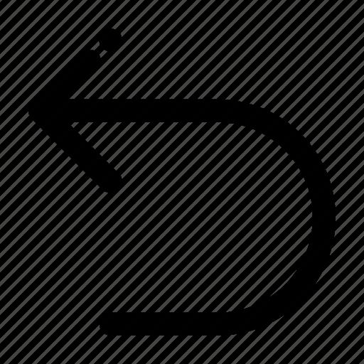 arrow, back, left, undo icon