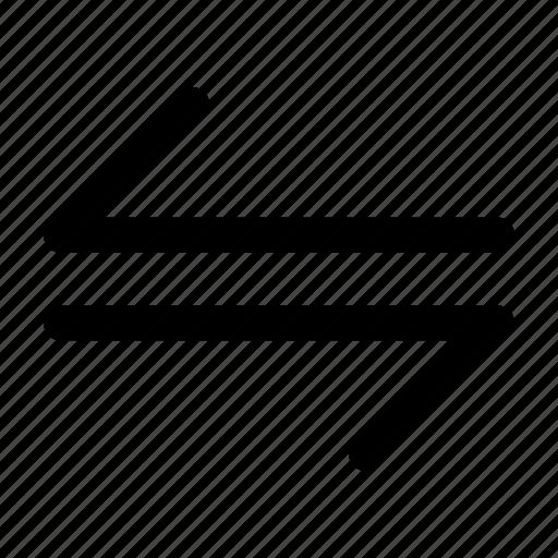 arrow, harpoon, left, right icon