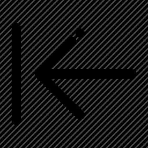 arrow, back, direction, left icon