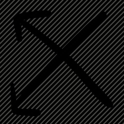 arrows, cross, cross path, crossed, direction, location, navigation icon