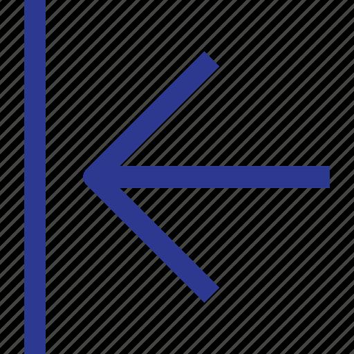 arrow, block, left, thinicons icon