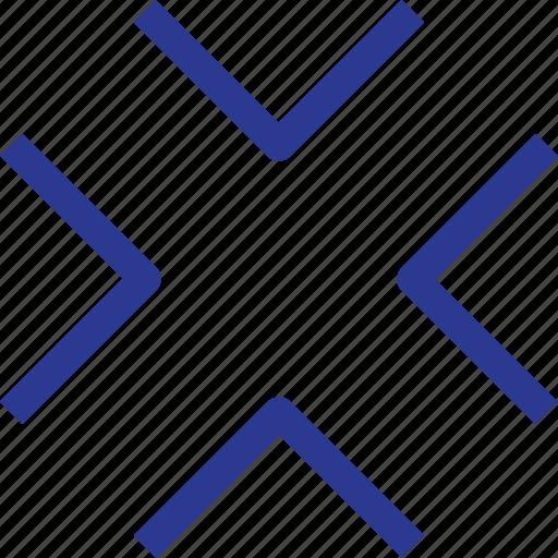 arrow, center, pain, thinicons icon