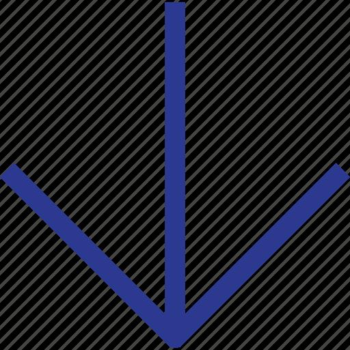 arrow, down, thinicons icon