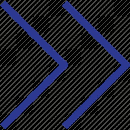 arrow, fast, foward, right, thinicons icon