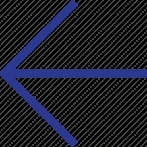 arrow, left, thinicons icon