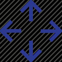 arrow, move, thinicons icon