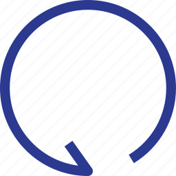 arrow, repeat, thinicons icon