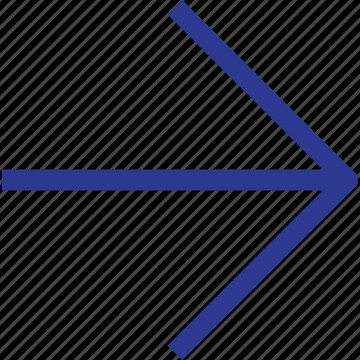 arrow, right, thinicons icon