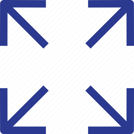 arrow, scale, thinicons icon