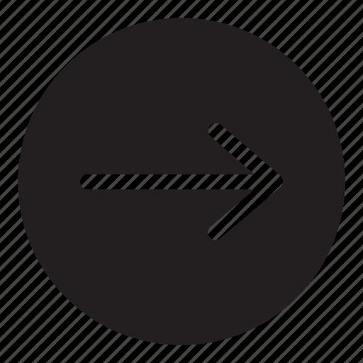 arrow, go, interaction, next, right, ui, user interface icon