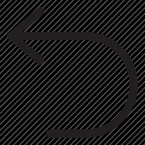 arrow, interaction, left, turn, ui, user interface icon