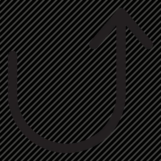 arrow, forward, interaction, turn, ui, user interface icon
