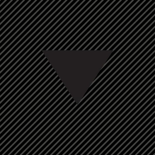 arrow, decrease, down, interaction, ui, user interface icon