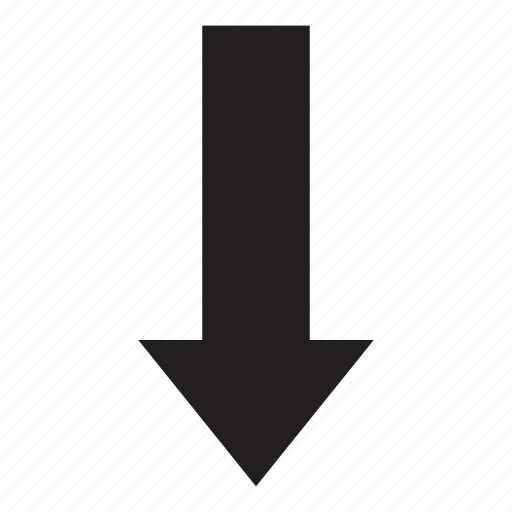 arrow, down, download, interaction, ui, user interface icon
