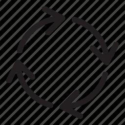 arrow, circle, cycle, line, reresh, ui, user interface icon