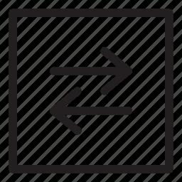 arrow, flow, line, ui, user interface icon
