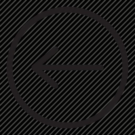 arrow, back, left, line, previous, ui, user interface icon