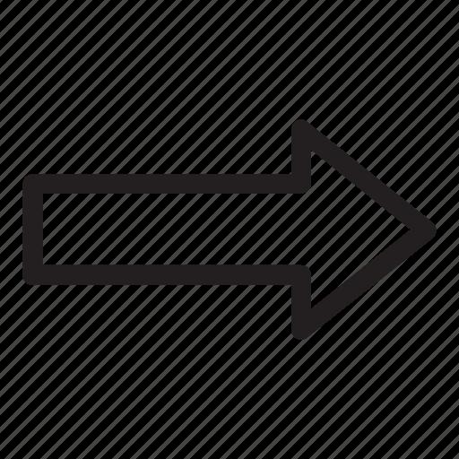 arrow, line, next, right, ui, user interface icon