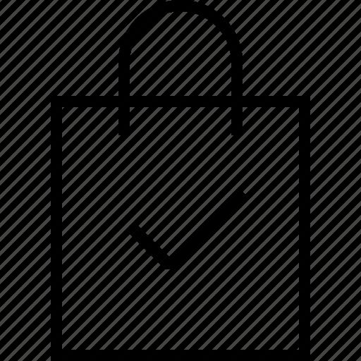 bag, check, ecommerce icon