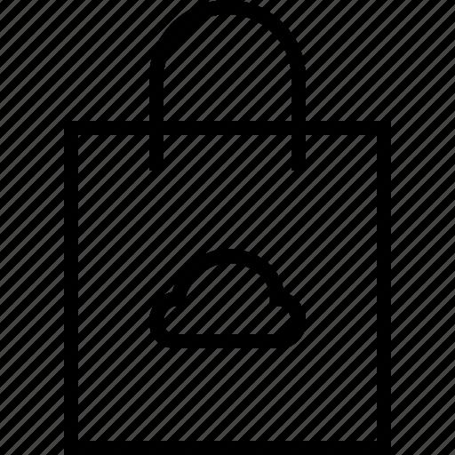 bag, cloud, ecommerce icon