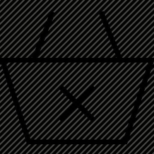 basket, ecommerce, remove icon