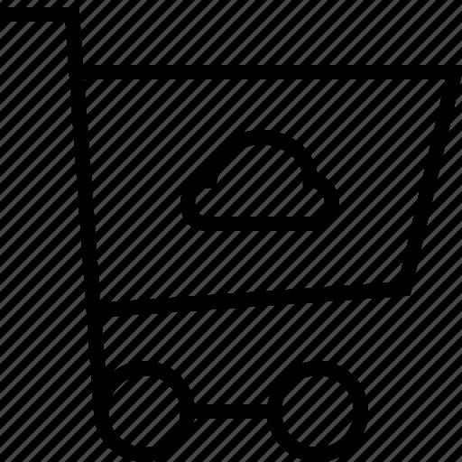 cart, cloud, ecommerce icon