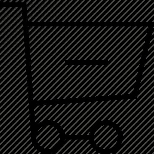 cart, ecommerce, minus icon