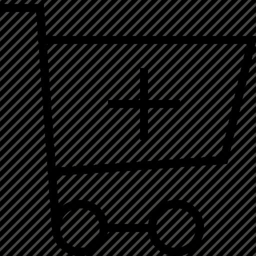 cart, ecommerce, plus icon