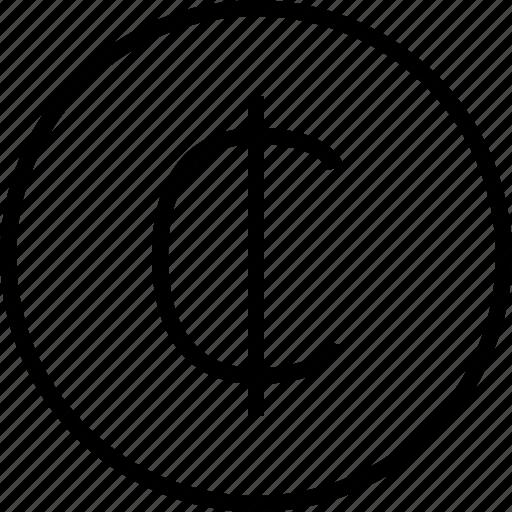 cent, ecommerce icon
