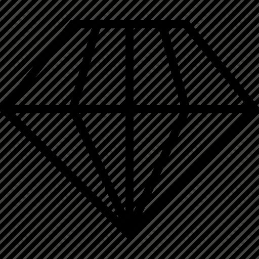 diamond, ecommerce icon