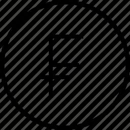 ecommerce, franc icon