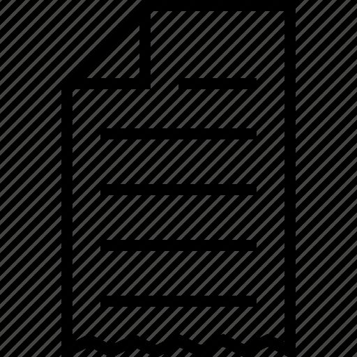 ecommerce, receipt icon