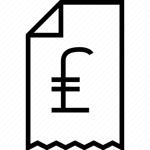 ecommerce, lira, receipt icon