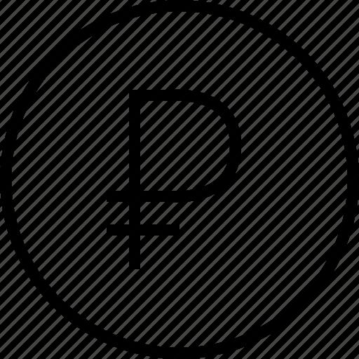 ecommerce, rublo icon