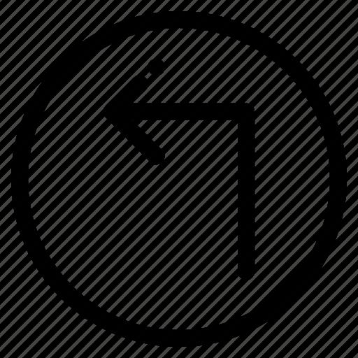 arrow, back, left, up icon