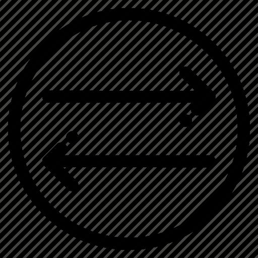 arrow, change, left, right icon