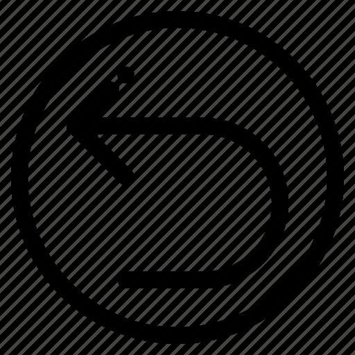 arrow, back, left, redo icon