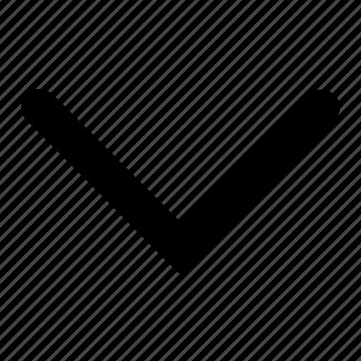 arrow, down, ico, round icon